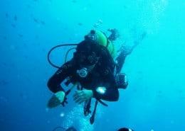 15 Meter Tiefe am Riff
