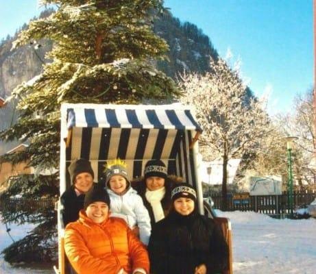 Alex Travel Büroteam im Strandkorb 2004