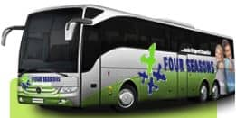Flughafentransfer mit Four Season Bus