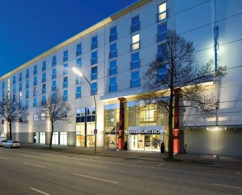 Aussenansicht Hotel NH Hamburg Horn in Hamburg