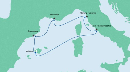 AIDAnova_Kreuzfahrt-Mallorca-Rom-Florenz-Marseille-Barcelona_Alex-Travel