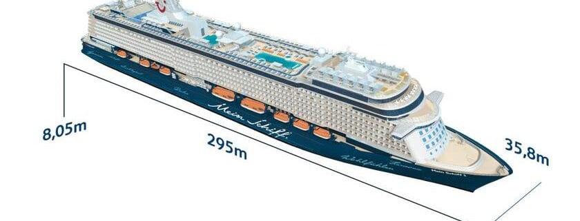 Mein Schiff 5 Länge Breite und max Tiefgang