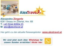 Alex Travel, dein Reisebüro auf WhatsApp